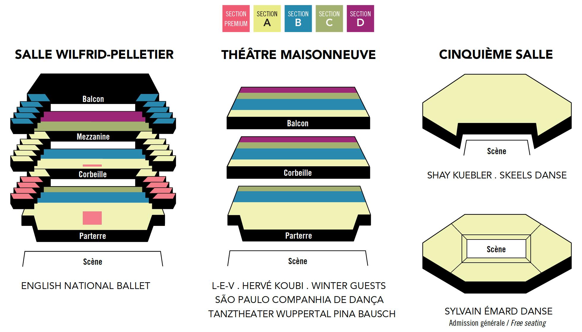 Plans des salles - Danse Danse 2020/2021